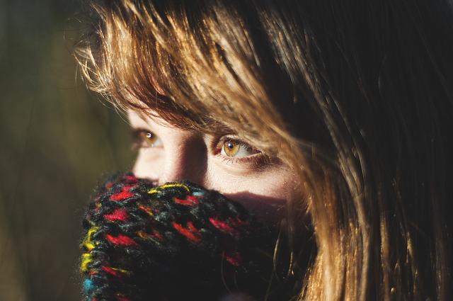 devojka zima